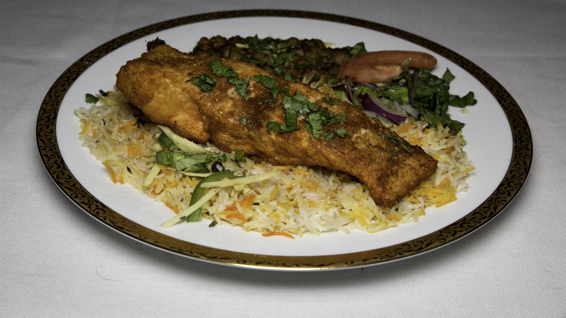 Salmon Kabob Meal